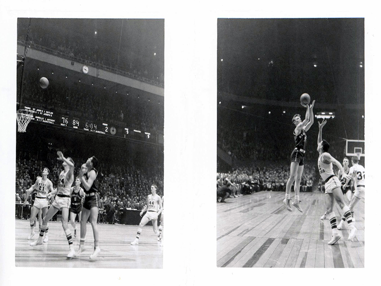 Manhattan College basketball game, 1957-58 season